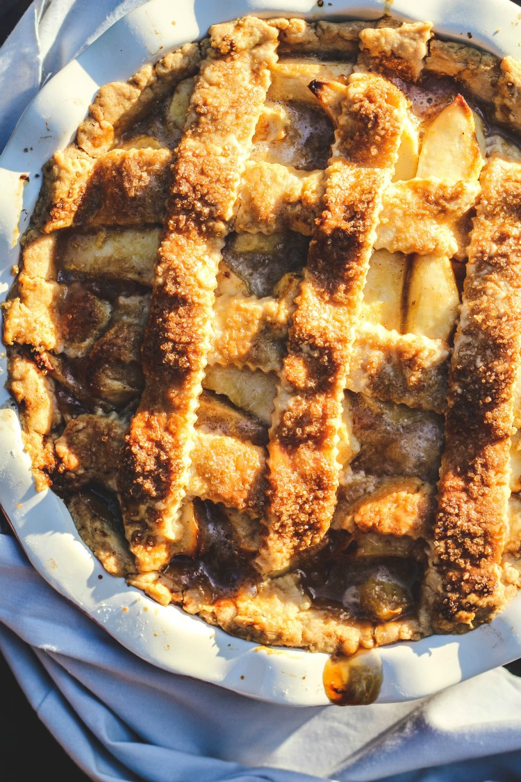 overhead image of baked pie