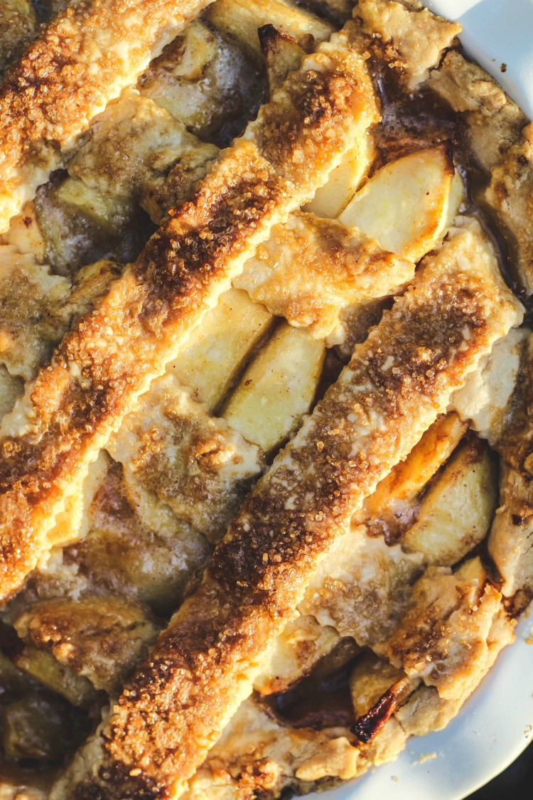 overhead image of pie