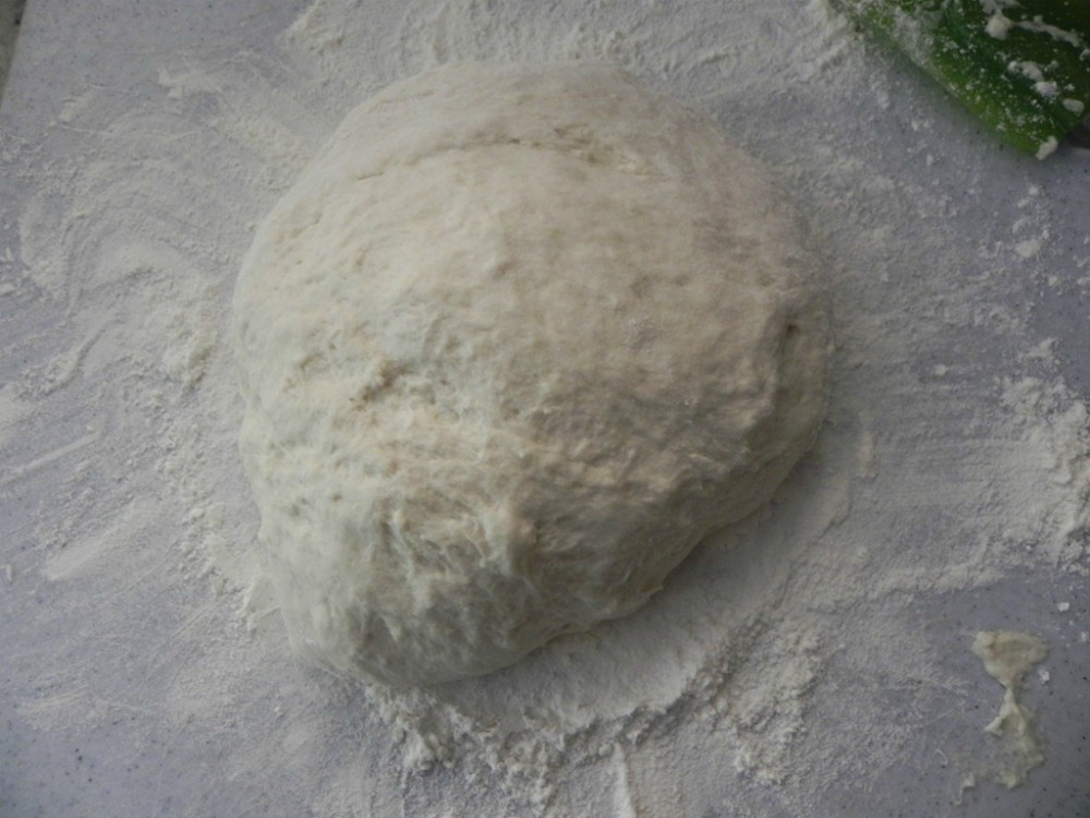 overhead image of making bread