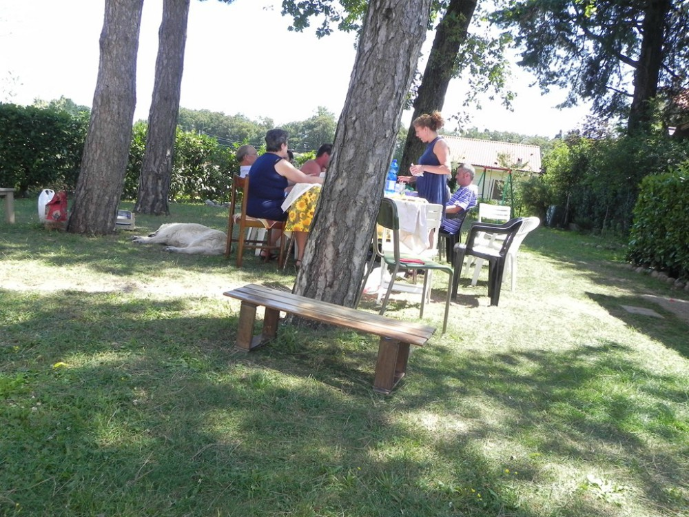 image of dining outside in Italy