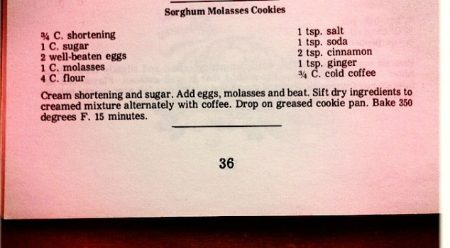 image of vintage cookie recipe