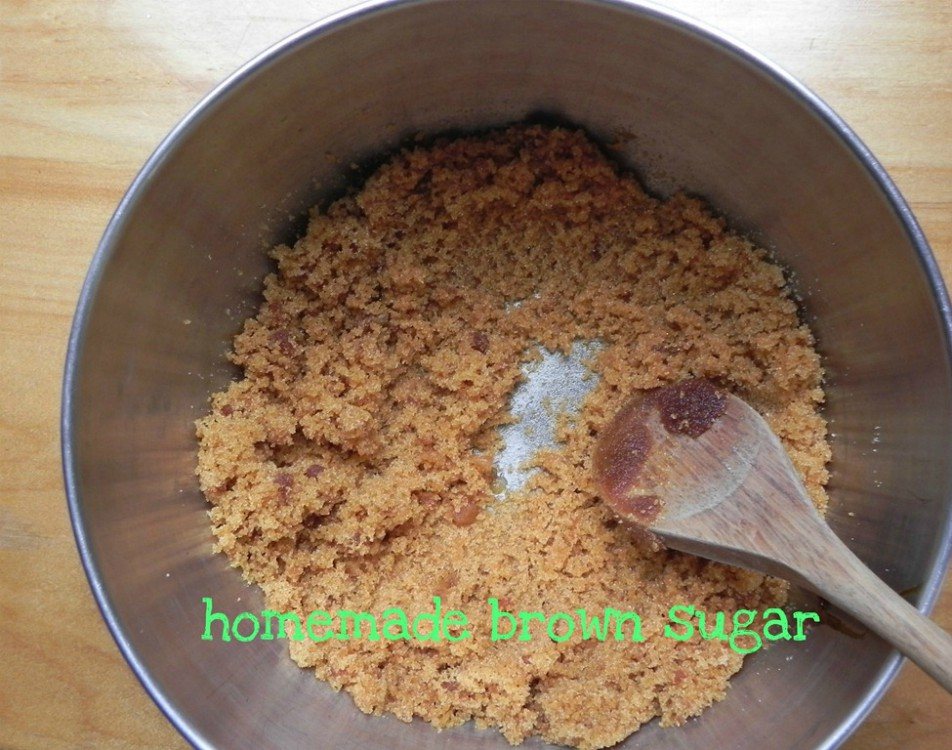 overhead image of homemade brown sugar