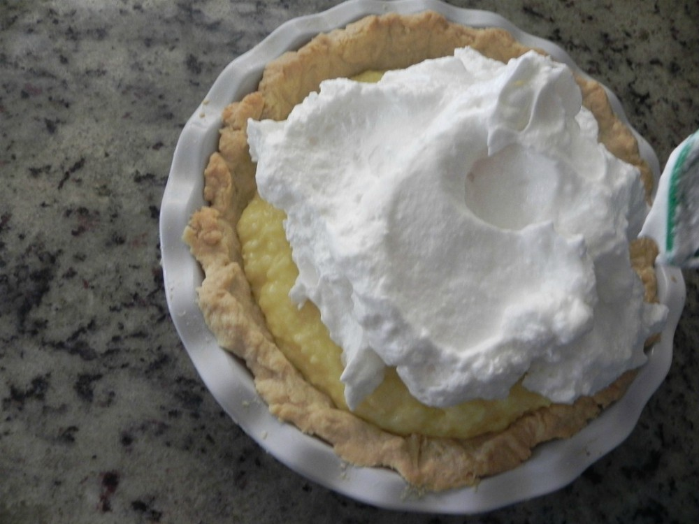 overhead image of making pie