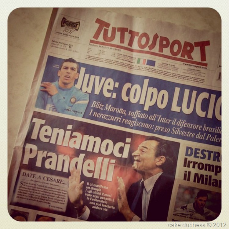 image of italian newspaper