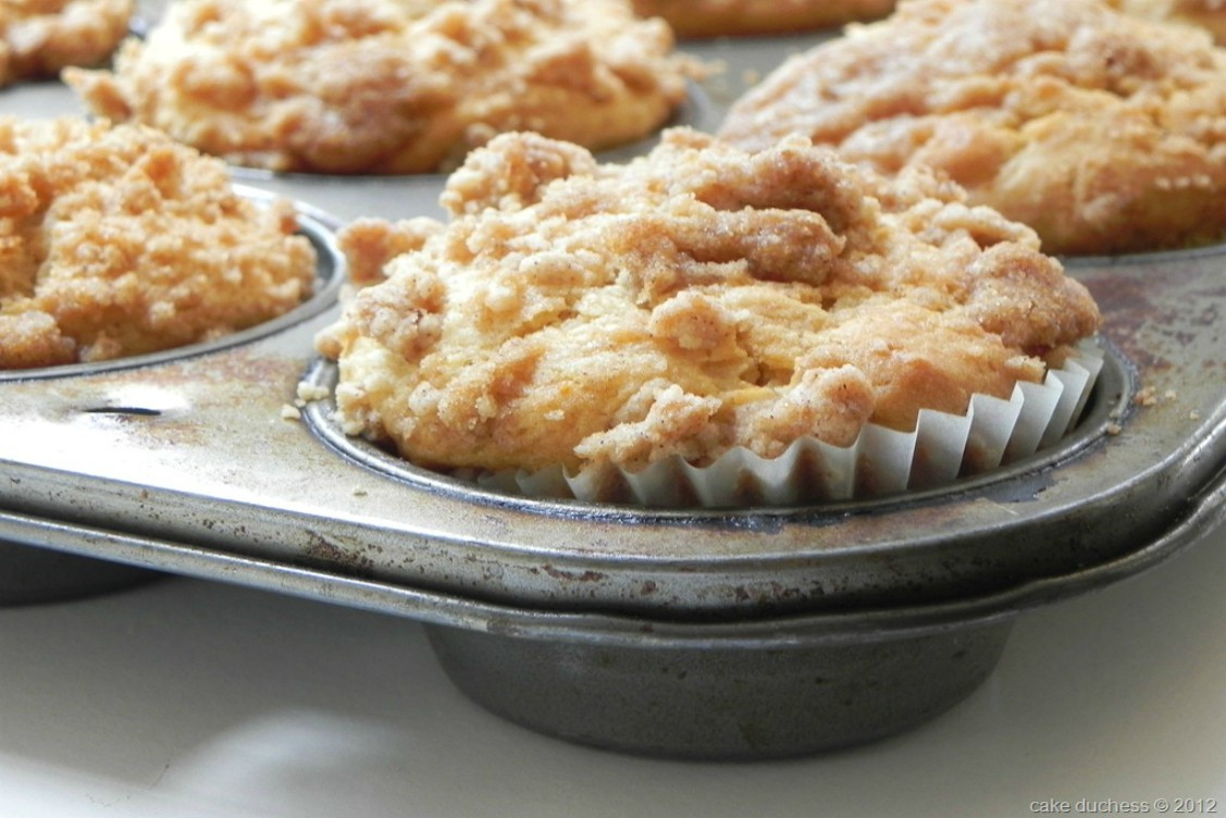 overhead image of muffins in baking pan