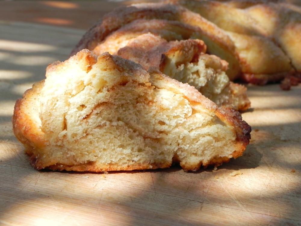 overhead image of slice of bread