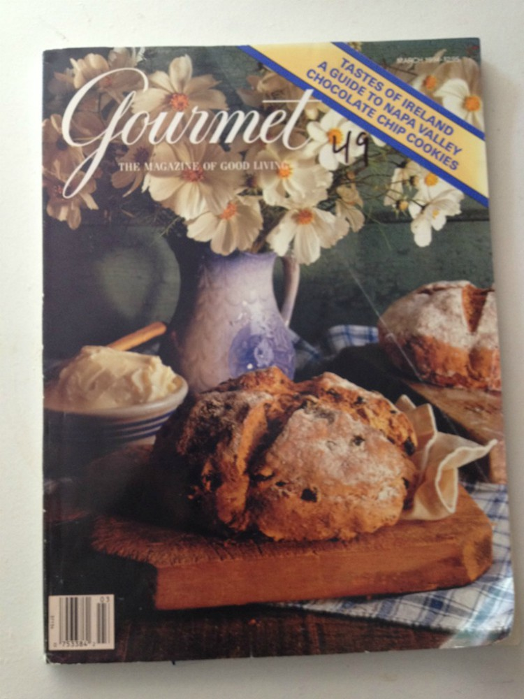 overhead image of gourmet magazine cover