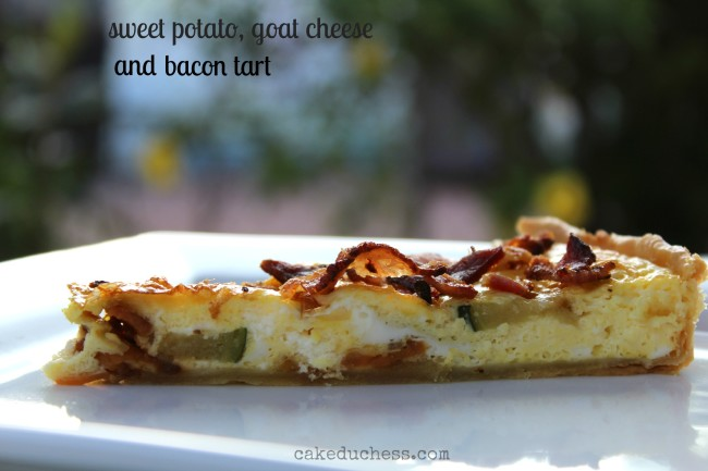 Sweet Potato, Goat Cheese and Bacon Tart