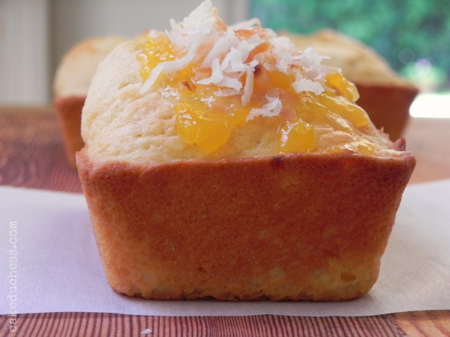 Mini Coconut-Mango Swirl Bread