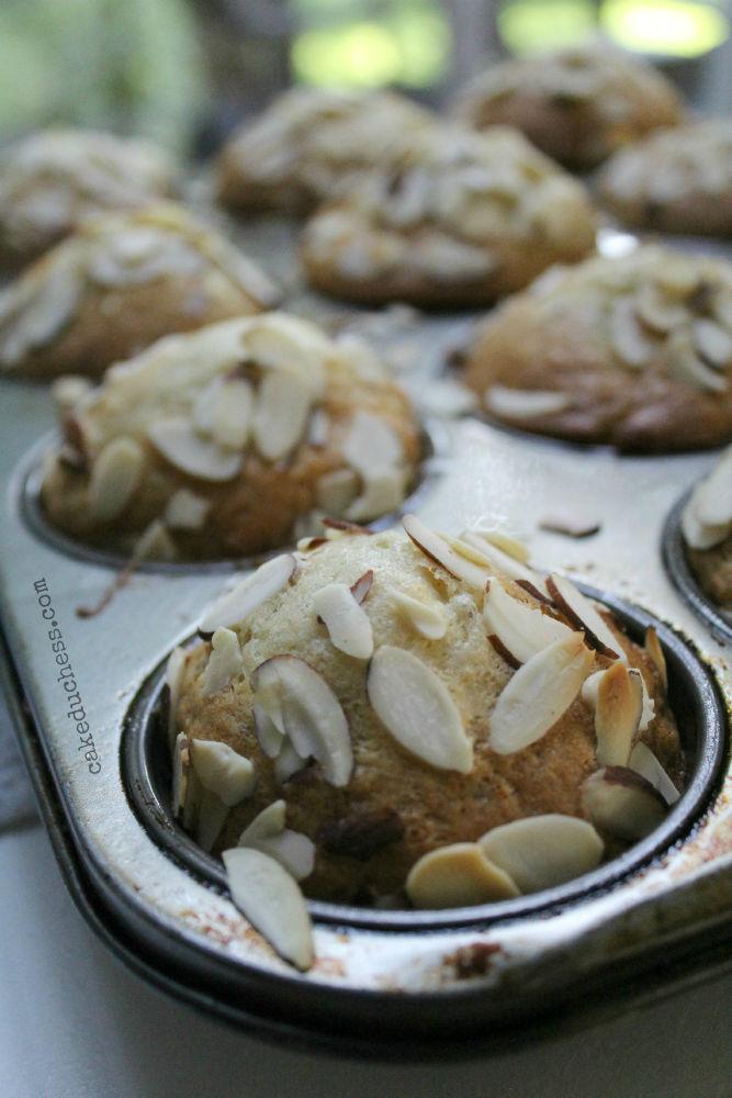 Banana Mango Flaxseed Muffins