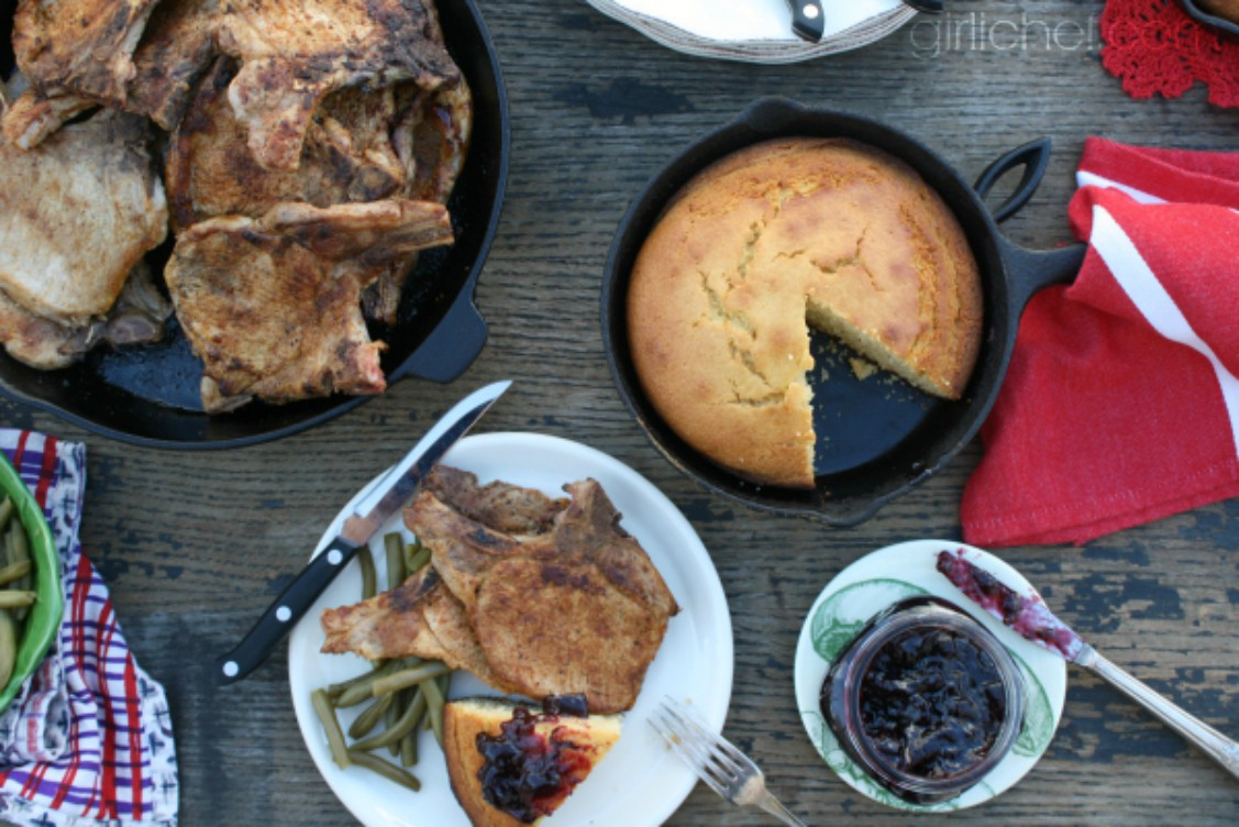 sweet brown butter cornbread and other dishes