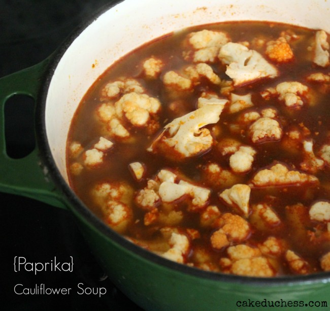 Paprika Cauliflower Soup - Karfiol Leves