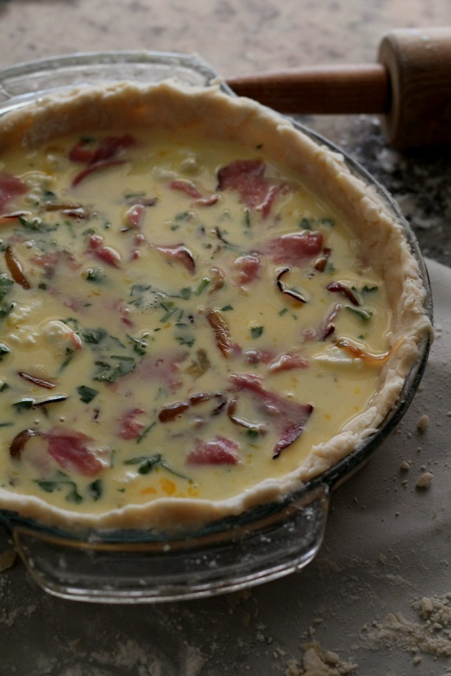 Ham, Goat Cheese and Vidalia Onion Tart {torta salata}