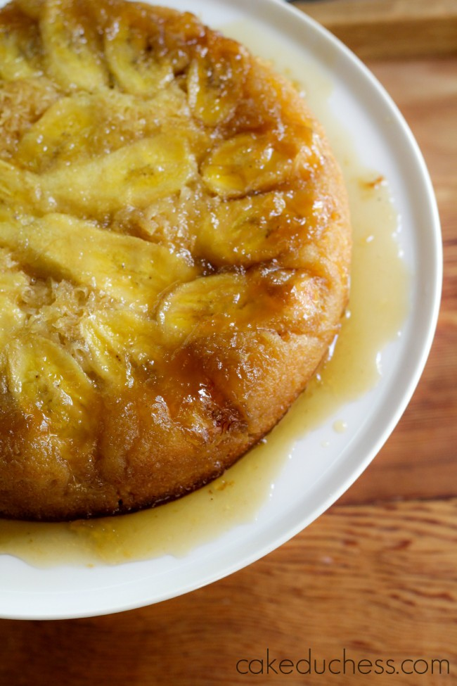 Banana Coconut Upside-Down Cake