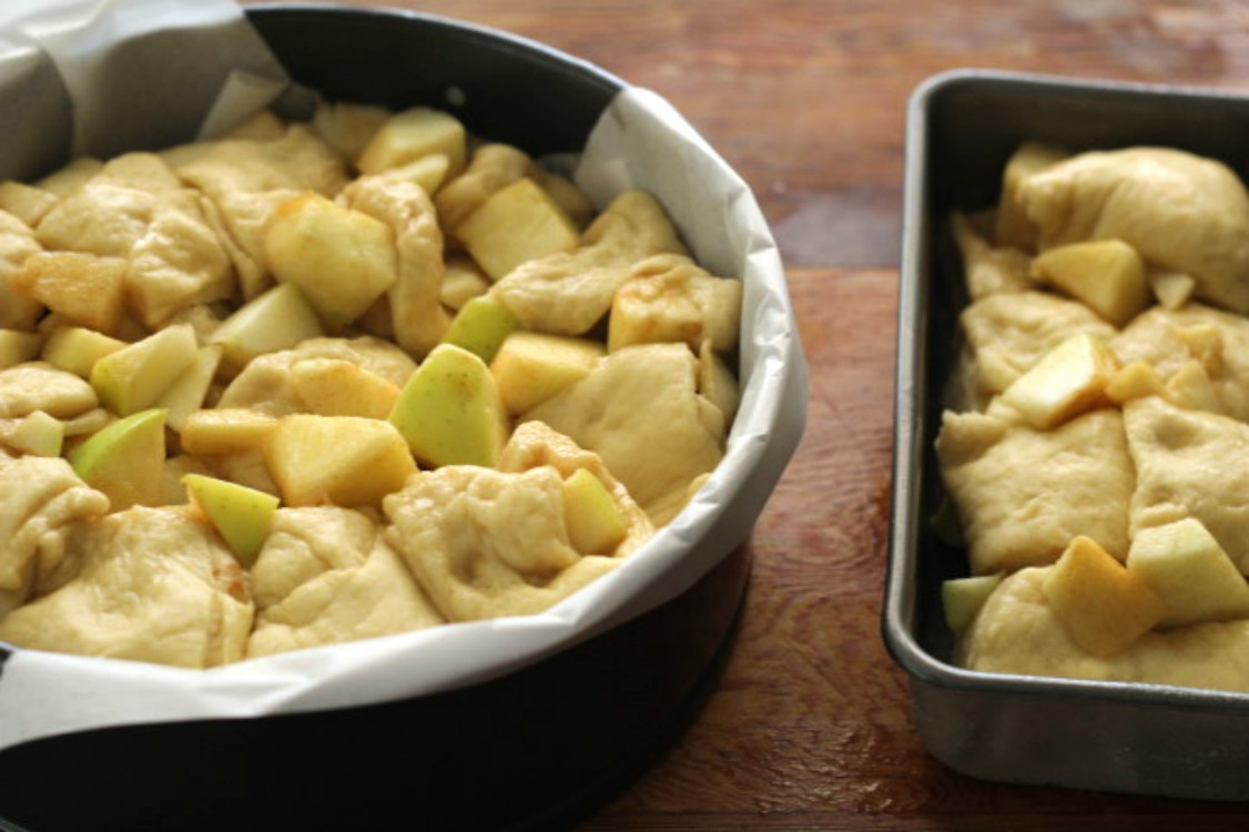 image of making apple bread