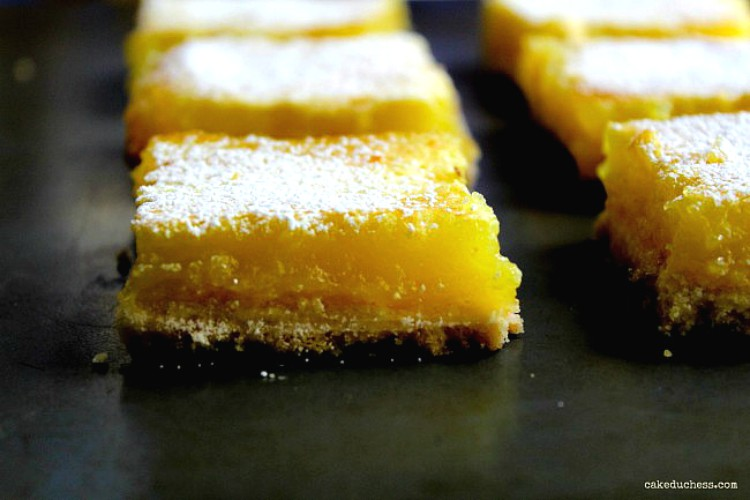 overhead image of lemon bars