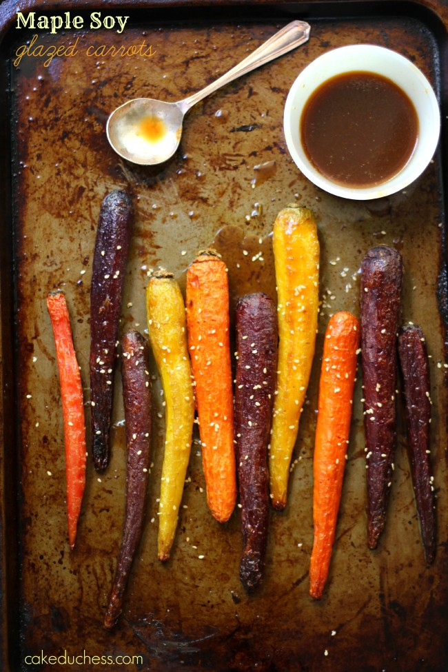 Maple Soy Glazed Spring Carrots