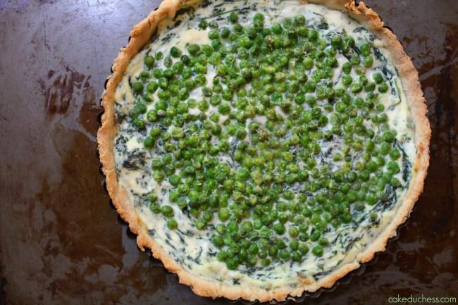 Spring Pea and Ricotta Tart {torta salata alle verdure di primavera}