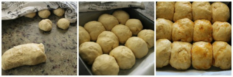 overhead image of making pull-apart loaves