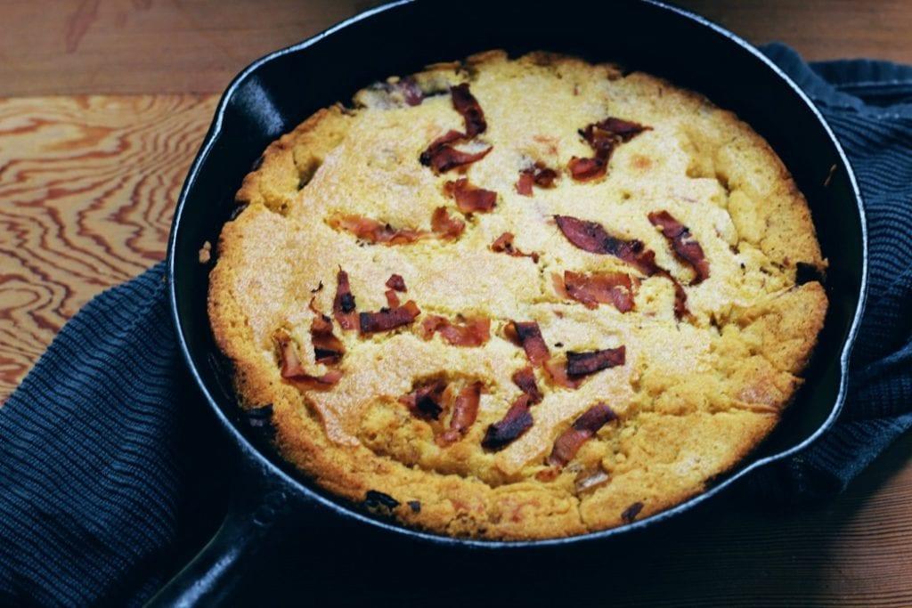 Pancetta Cornbread-Pane di Mais con Pancetta