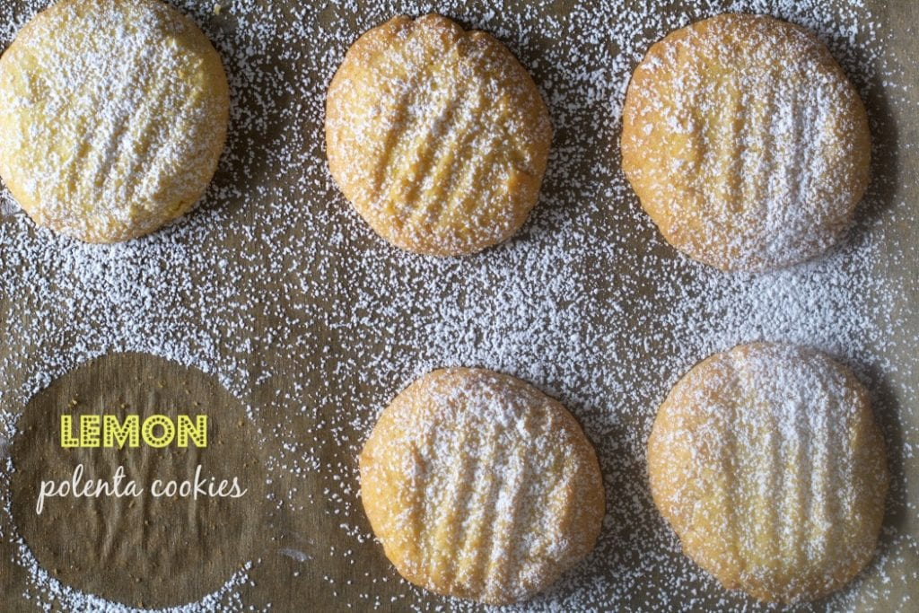 Lemon Cornmeal Cookies-Biscotti di Meliga