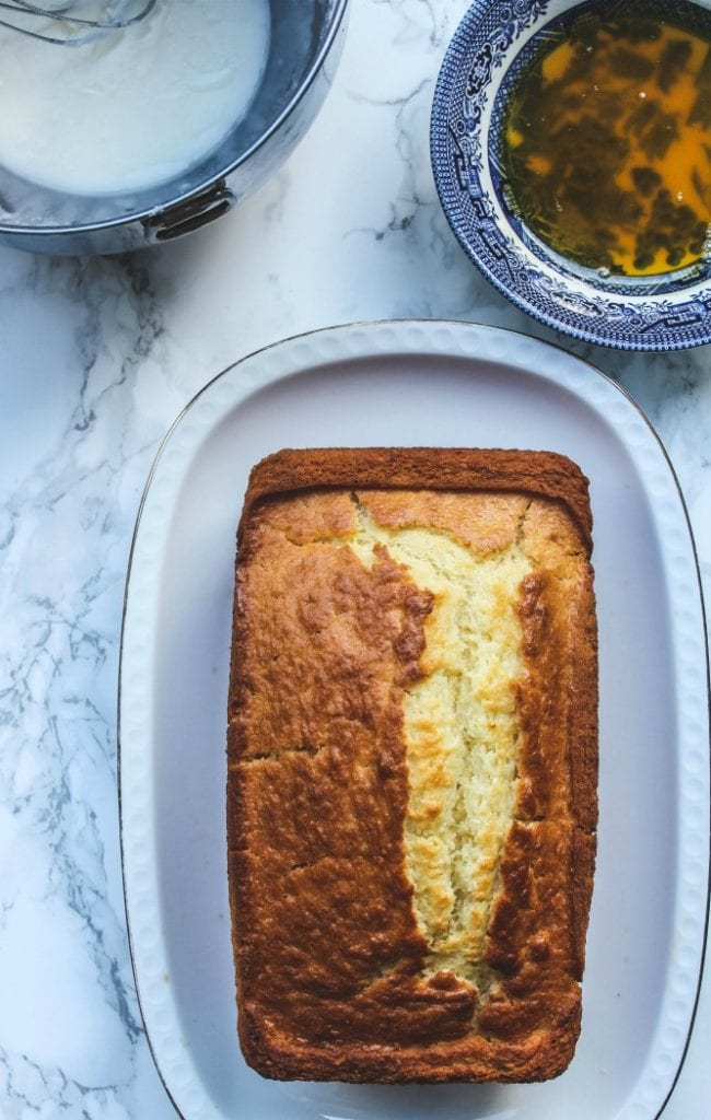This lemon yogurt cake with its super moist, bursting with lemony flavor and a delicate crumb is the perfect afternoon treat. Enjoy with a cup of coffee.