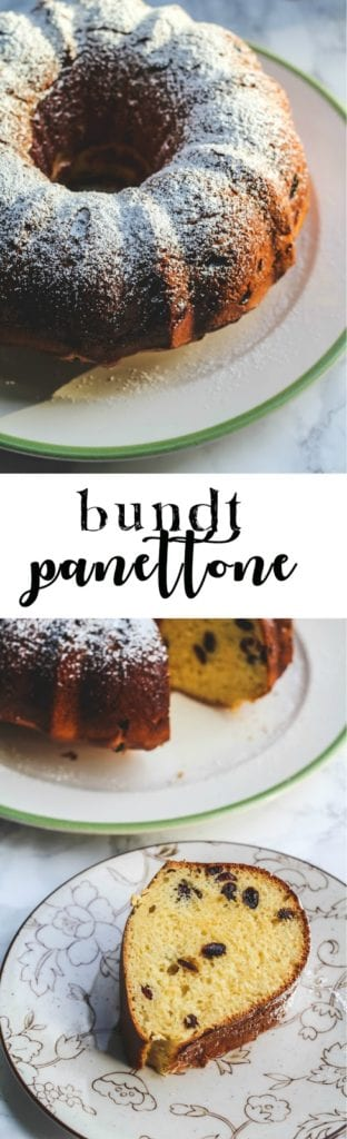 Bundt Panettone is a less fussy version of an Italian holiday panettone made in a Bundt pan! Delicious with a hot cup of coffee on Christmas morning. #baking #bread #christmas #panettone #yeastbread