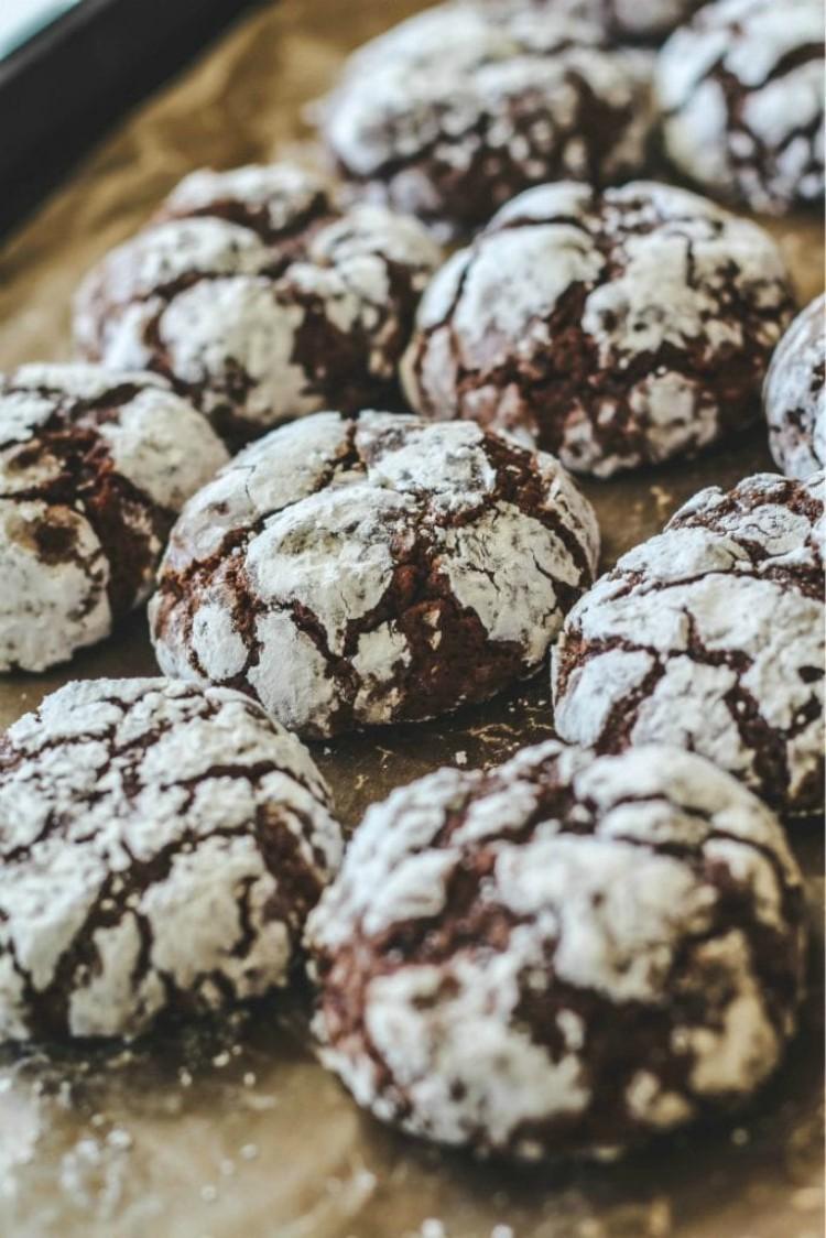 overhead image of chocolate cookies