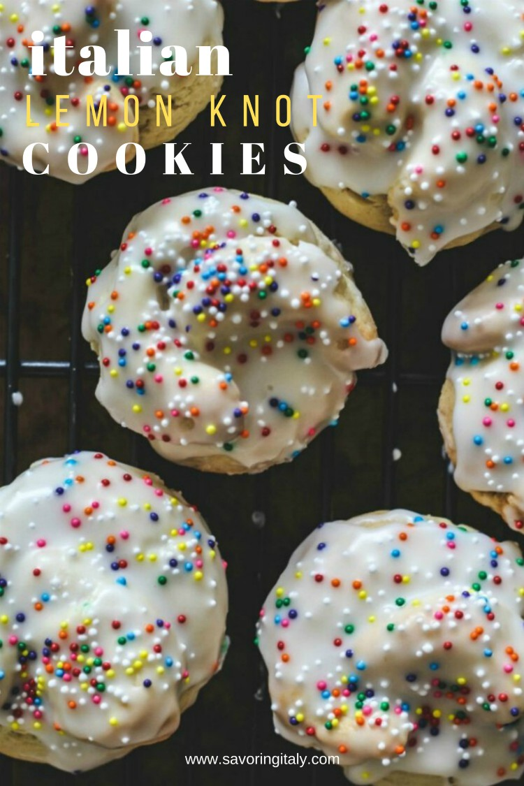 overhead image of sprinkle covered iced cookies