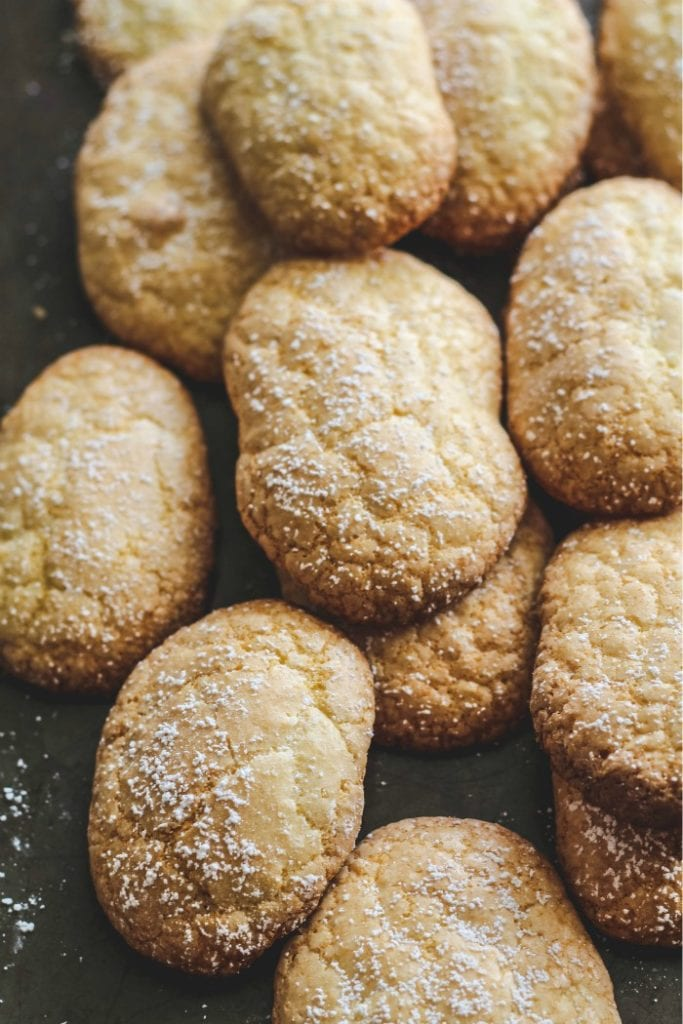 Sicilian Savoiardi Cookies (Ladyfingers) are so easy to put together and are the perfect cookie for a coffee break! These soft and fluffy cookies ideal for tiramisu, trifles, and more.