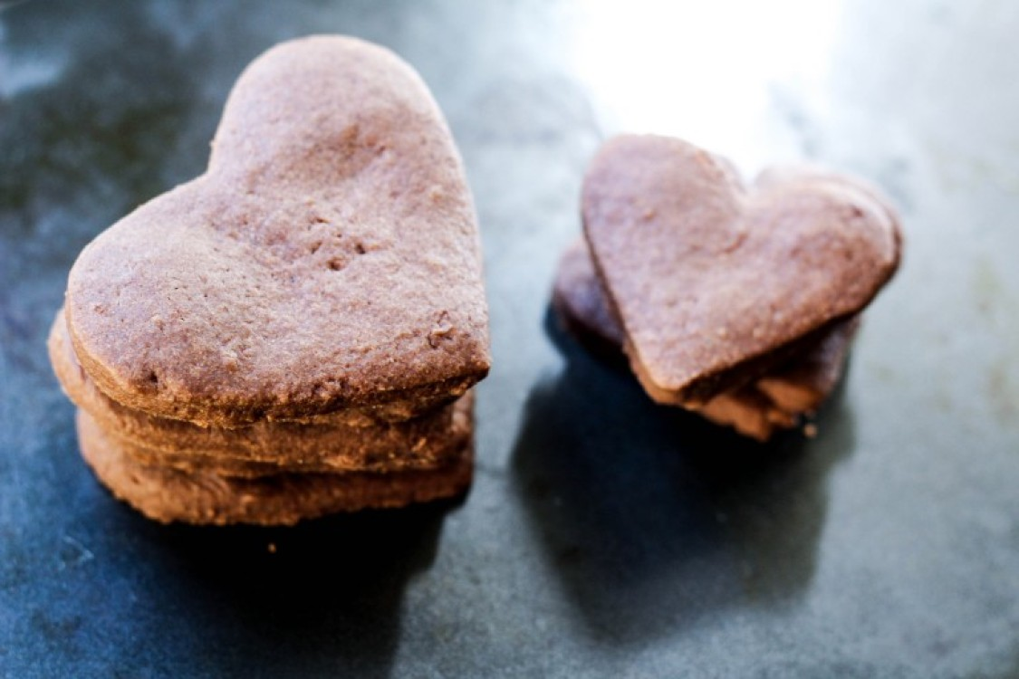 image of heart shaped cookies stacked up