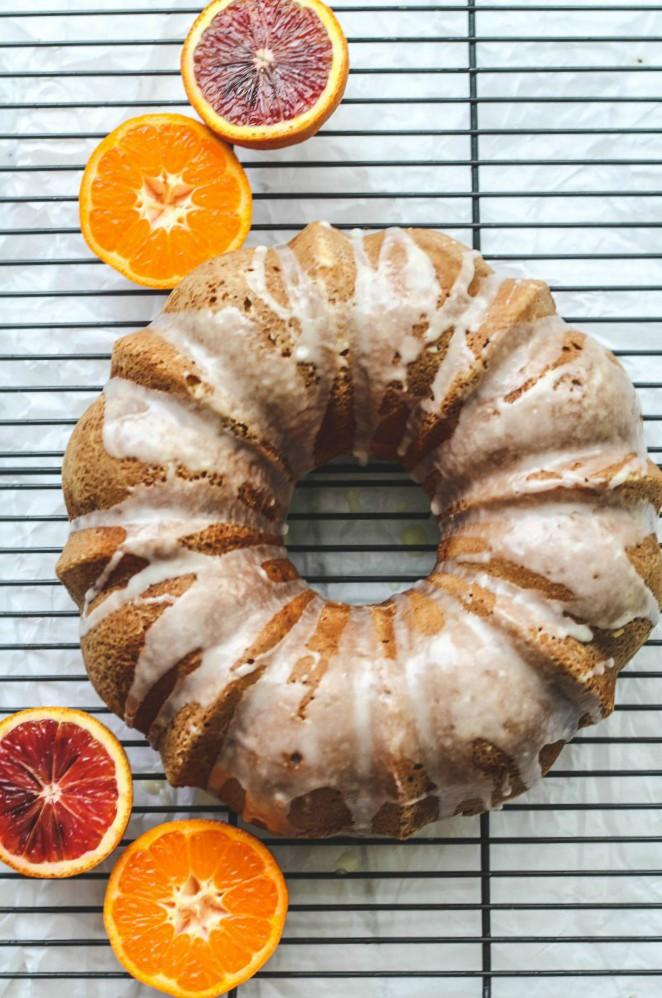 Orange Bundt Cake with Orange Glaze