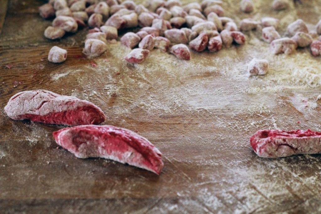 Beet and Potato Gnocchi-Gnocchi di Barbabietola