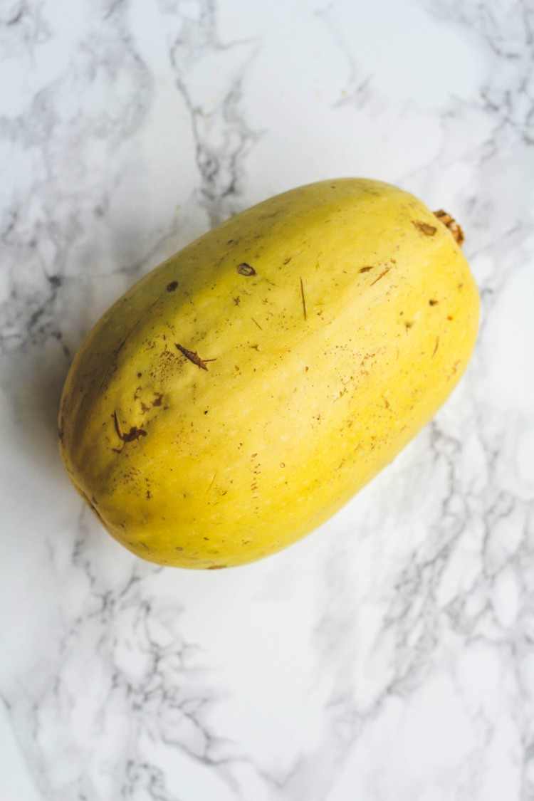 overhead image of squash on marble background