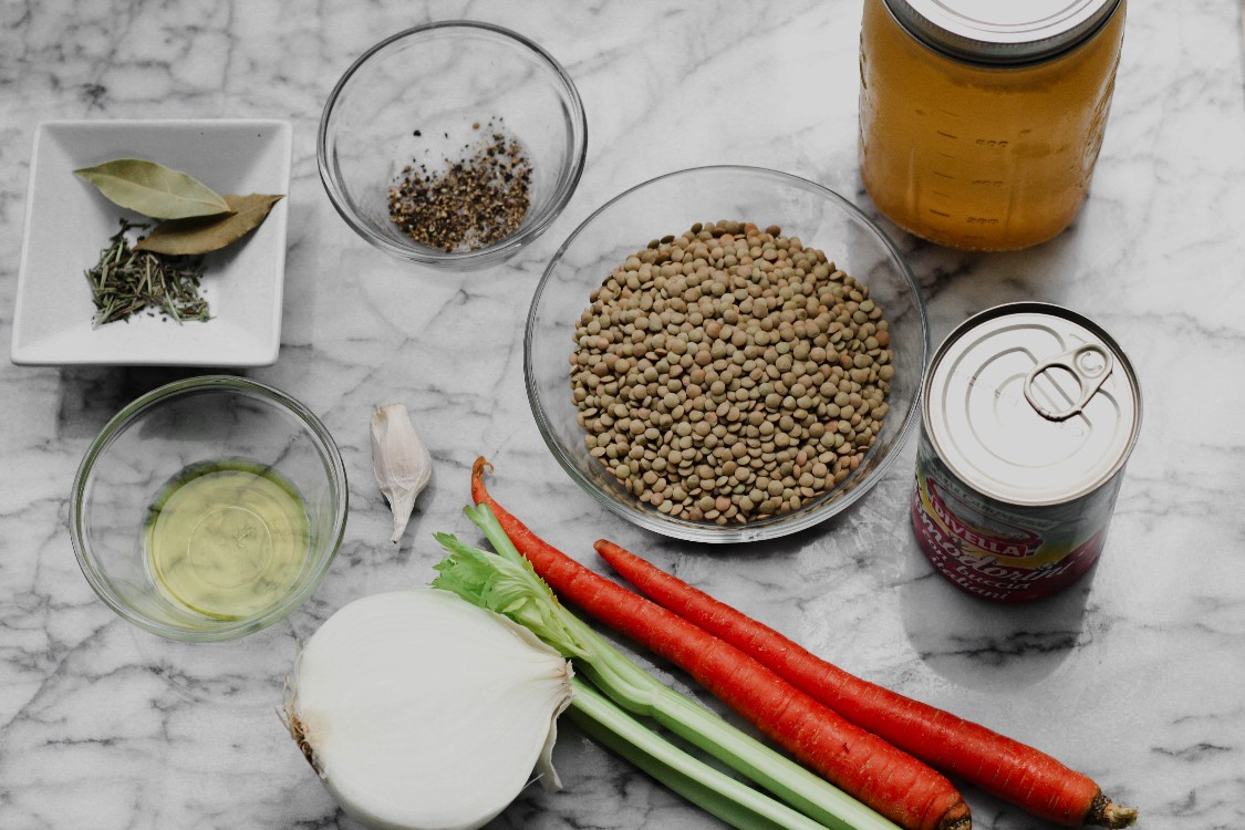 image of making lentil soup