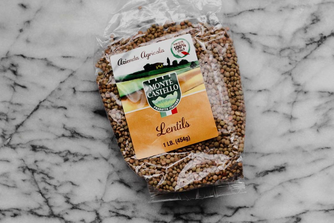 overhead image of lentils