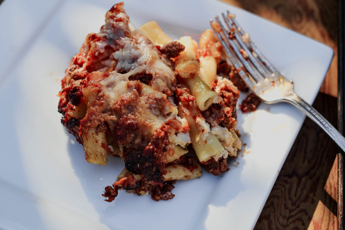 image of pasta with sauce on white plate