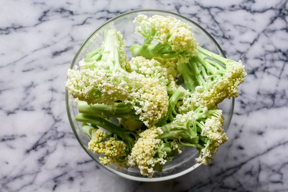 image of cauliflower in a glass bowl